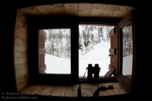 Alpine cabin's window - Canon 7D, sigma 15mm fisheye/2.8 (f/9.0, 1/100, 400iso)