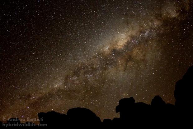 Notte tra le montagne rocciose del Namaqualand - Canon 7D